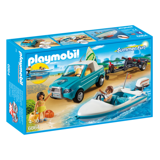 PLAYMOBIL 6864 Surfer pick-up med speedbåd