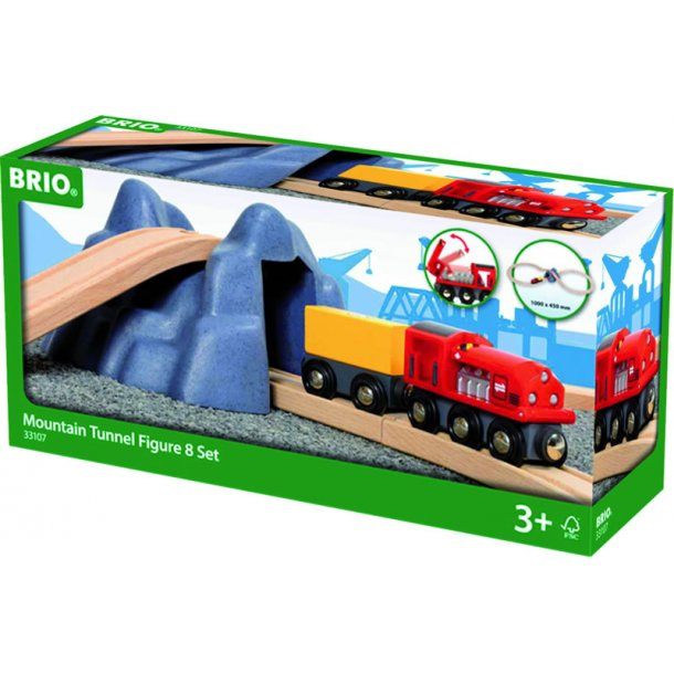 BRIO 33107 Togbane med bjergtunnel